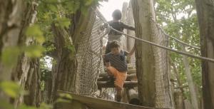 klimmen tijdens blotevoetenpad